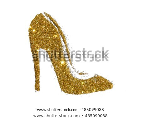 Gold high-heeled shoes Stock photo © homydesign