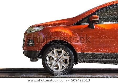 wet car door stock photo © stocksnapper