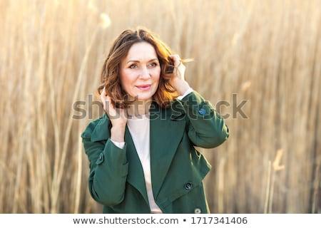 aantrekkelijke · vrouw · winter · bos · meisje · boom · gezicht - stockfoto © nejron