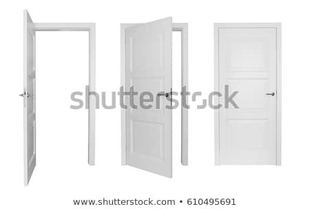 белый двери изолированный дома древесины домой Сток-фото © FrameAngel