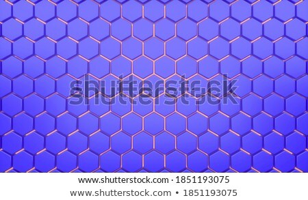 Purple hexagonal mosaic Stock photo © Zebra-Finch