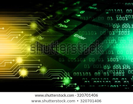 Data Processing - Concept on Green Keyboard Button. Stock photo © tashatuvango