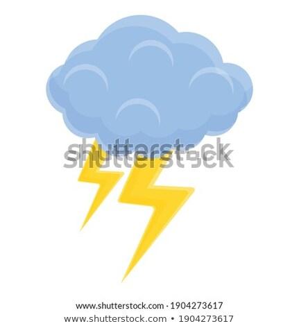Flash Cloud Yellow Vector Icon Design Stock photo © rizwanali3d
