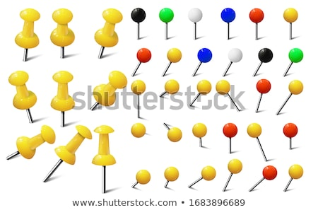 Red and yellow pushpins Stock photo © Oakozhan