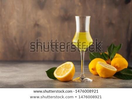 Glass of Limoncello Stock photo © monkey_business