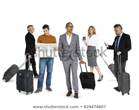 азиатских · женщину · путешествия · сумку · билета · рук - Сток-фото © studioworkstock