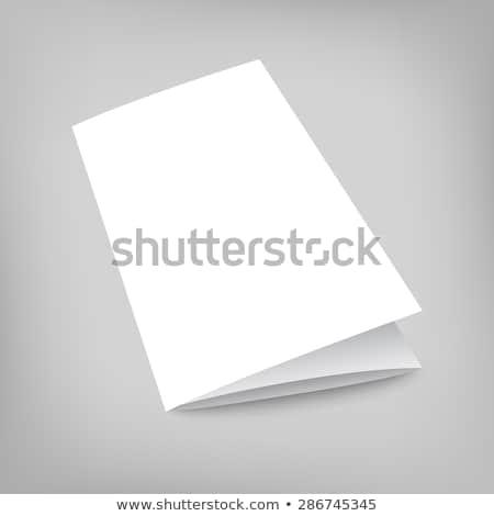 fold paper brochure presentation mockup Stock photo © SArts