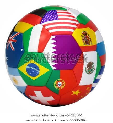 Futebol 3D Catar Foto stock © Wetzkaz