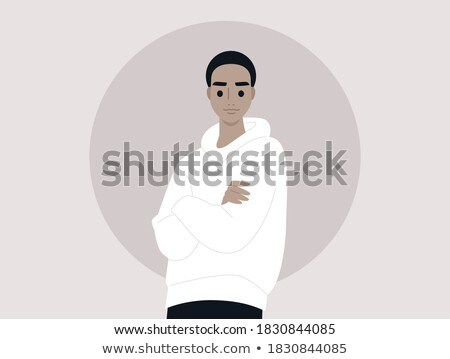 White short sleeved man A to Z Stock photo © toyotoyo