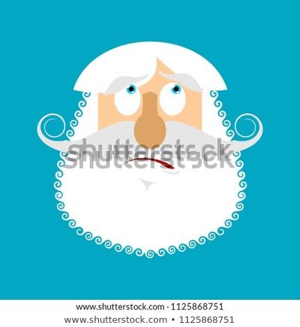 歳の男性 驚いた シニア グレー あごひげ 顔 ストックフォト © popaukropa