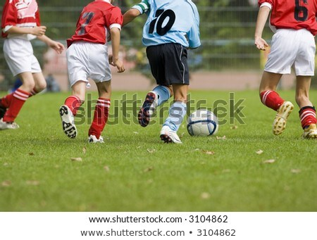 Kids in red shirt in four actions Stock photo © colematt