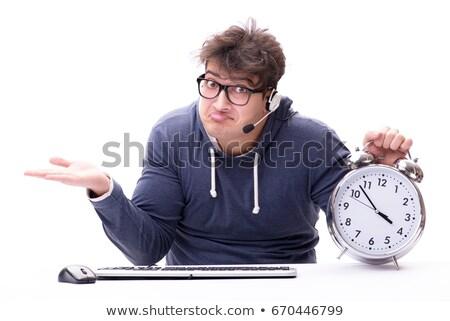 őrült programozós ül számítógép asztal üzlet Stock fotó © vladacanon