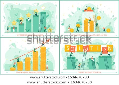 Stock photo: Teamwork and Business Search, Ideas Accumulation