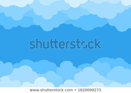 Frames hemel scène illustratie wolken frame Stockfoto © colematt
