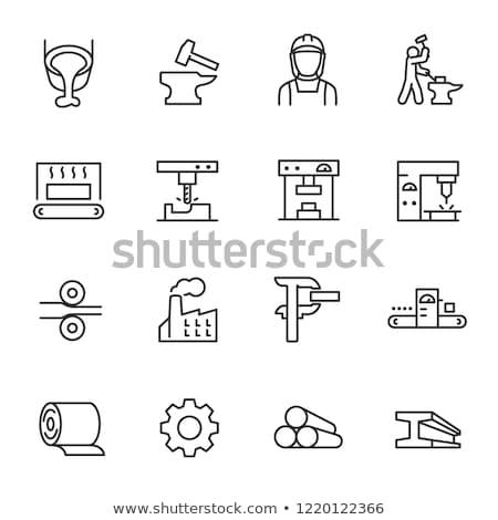 Metallurgy icon set Stock photo © netkov1