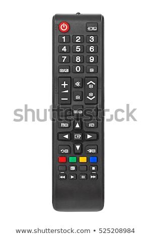 Uzaktan kumanda yalıtılmış beyaz televizyon ev klavye Stok fotoğraf © boggy