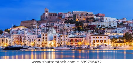 Ibiza Eivissa skyline view from the sea Stock photo © lunamarina