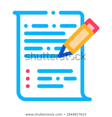 ストックフォト: Pen Writing On Paper List Agile Element Vector