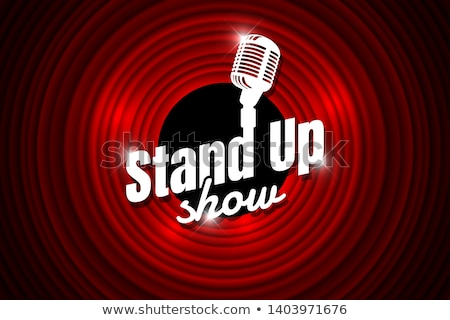 Theater Scene With Microphone Music Element Vector Stock photo © pikepicture