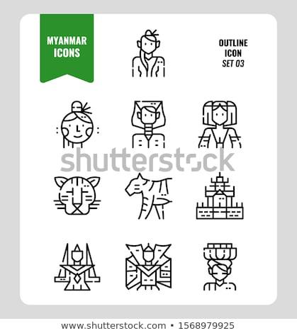 thanaka icon set Stock photo © bspsupanut