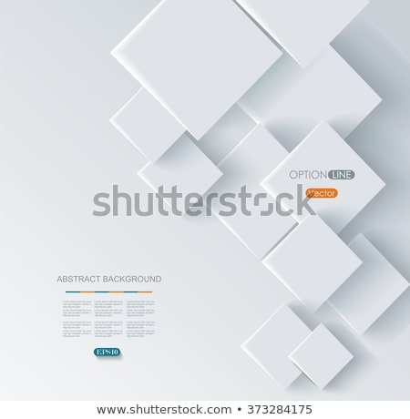 Abstract geometric background with overlapping cubes Stock photo © SwillSkill