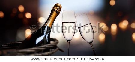 Zdjęcia stock: Szampana · butelki · karty · wakacje · szablon · puste · karty