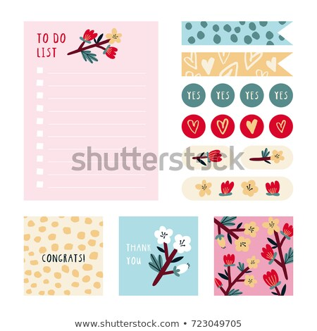 notebook, planner thank day Stock photo © Olena