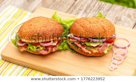 Burger alface carne fast-food Foto stock © robuart