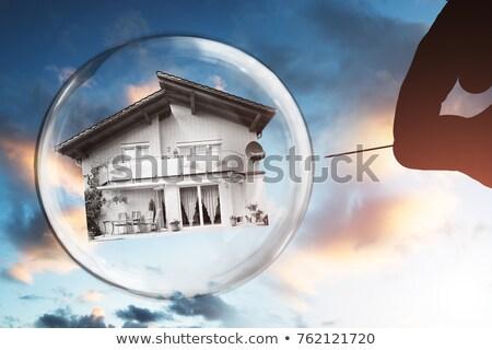 住宅 バブル 住宅 空 家 青 ストックフォト © visualdestination