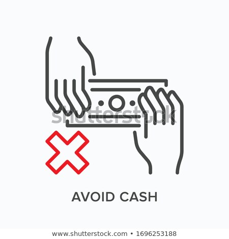 Laundered Cash Money Icon Vector Outline Illustration Stock photo © pikepicture