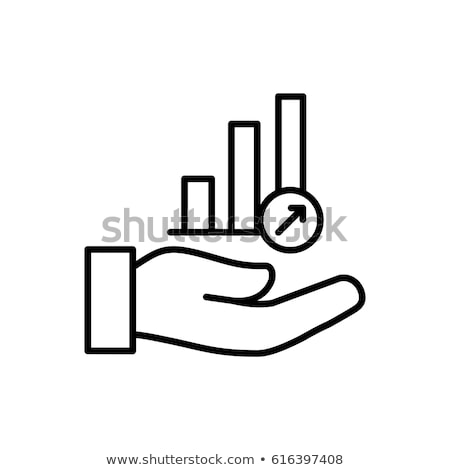 Interest Rising Statistics Icon Vector Outline Illustration Stock photo © pikepicture