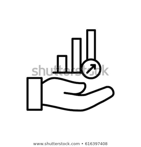 Statistiek icon vector schets illustratie Stockfoto © pikepicture