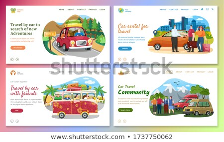 Travel by Car in Search of New Adventures Web Stock photo © robuart