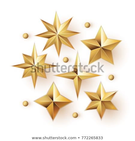 Realistic Vector Star Decorations Stock photo © solarseven