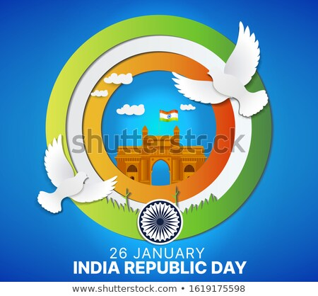 flat style creative indian republic day background Stock photo © SArts