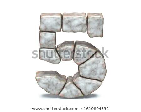 Rock kamieniarstwo chrzcielnica numer pięć 3D Zdjęcia stock © djmilic