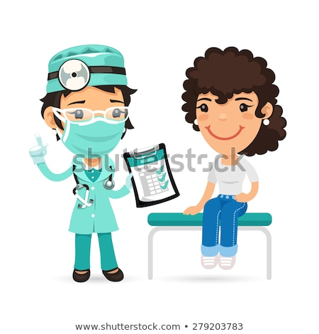 Cartoon Female Doctor Physician in the Office Stock photo © Voysla