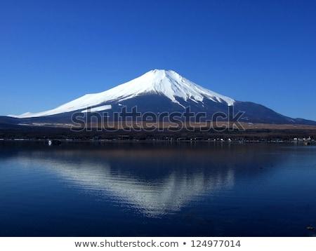 Górskich fuji Błękitne niebo niebo charakter Zdjęcia stock © mayboro