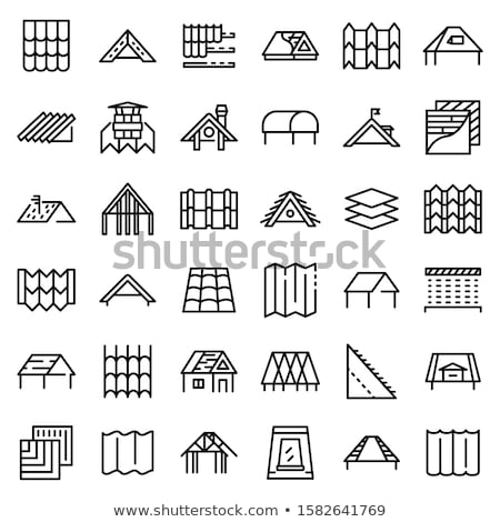 Waterproof Material Cement Vector Thin Line Icon Stock photo © pikepicture