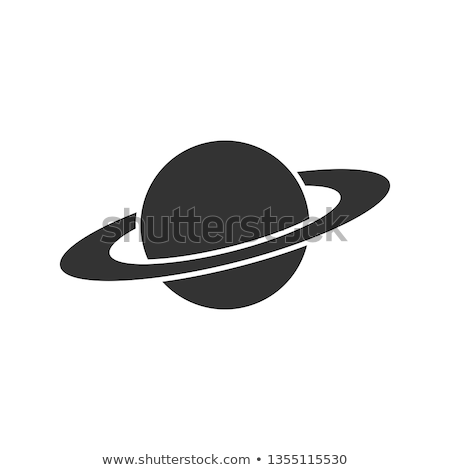 Saturn Planet Ring Icon Outline Illustration Stock photo © pikepicture