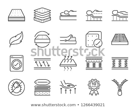 Zachte orthopedische matras icon schets illustratie Stockfoto © pikepicture