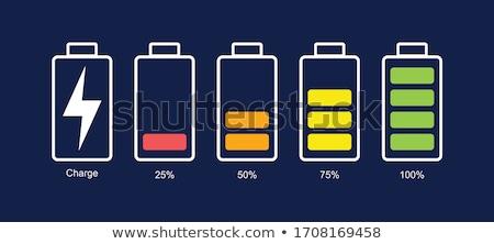 Batería nivel estado vector símbolos teléfono Foto stock © kyryloff