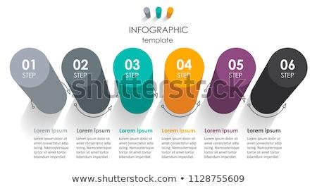 Abstrakten Business Kreis Vorlage Schritte Stock foto © ukasz_hampel