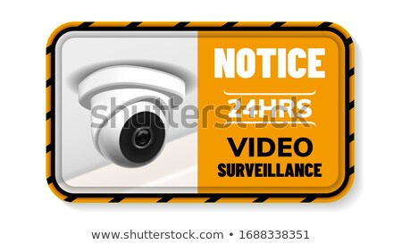 Video Surveillance Notice Nameplate Banner Vector Stock photo © pikepicture