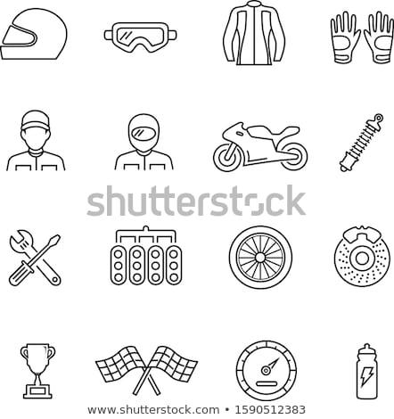 шин оборудование икона вектора иллюстрация Сток-фото © pikepicture