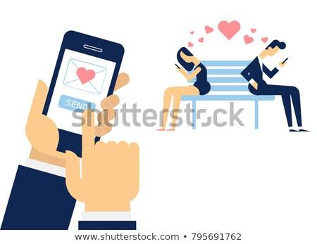 человеческая рука любви sms Сток-фото © ShustrikS