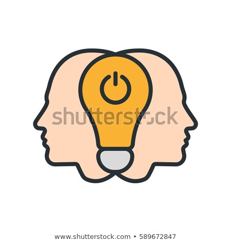 collective mind icon vector outline illustration Stock photo © pikepicture