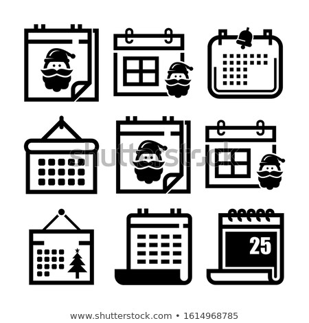 Simple negro calendario icono 25 fecha Foto stock © evgeny89