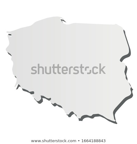 Polônia país mapa simples preto silhueta Foto stock © evgeny89