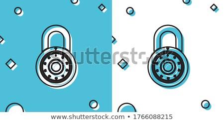 Padlock wheel code numbers on white Stock photo © evgeny89